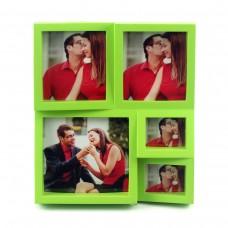 """Фоторамка """"The Brightest Moments"""", зеленая, на 5 фото"""
