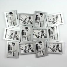 """Фоторамка """"Двенадцать ярких мгновений"""" серебристая,на 12 фото"""