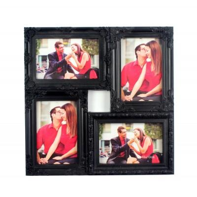 """Фоторамка """"Самые яркие мгновения"""" на 4 фото, черная"""