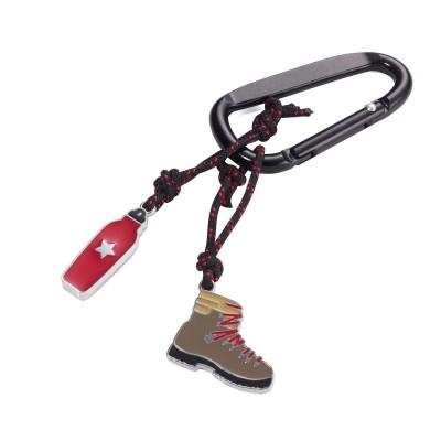 Брелок ботинок альпиниста, с карабином