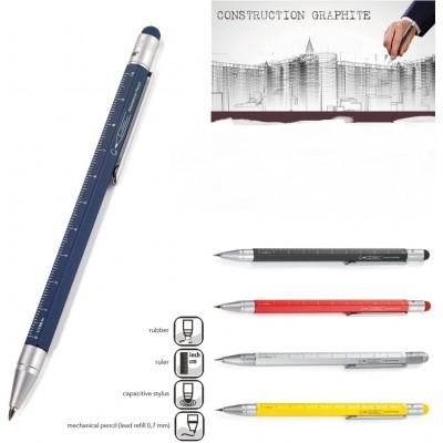 "Механический карандаш Troika ""Construction graphite"", синий"