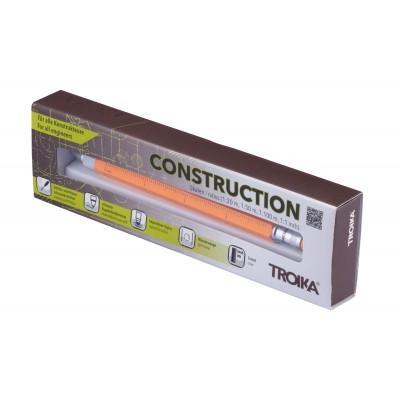 Шариковая многозадачная ручка Troika Construction со стилусом; линейкой; отверткой и уровнем; оранжевая