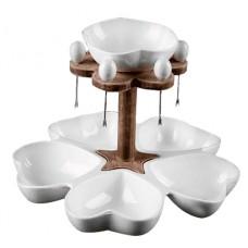 Набор столовый для оливок на блюде