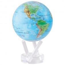 Глобус самовращающийся Solar Globe Mova Физическая  карта Мира