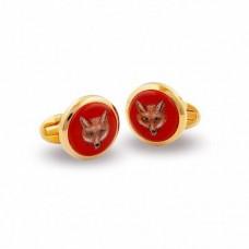 Запонки Fox Head Red круглые