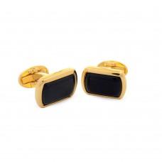 Запонки Black прямоугольные, золото